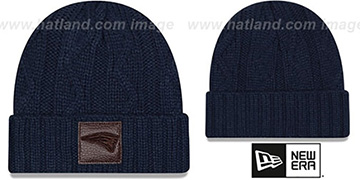 Patriots 'OHANA' Navy Knit Beanie Hat by New Era