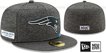 Patriots 'ONFIELD CRUCIAL CATCH' Grey Fitted Hat by New Era
