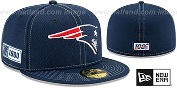 Patriots ONFIELD SIDELINE ROAD Navy Fitted Hat by New Era