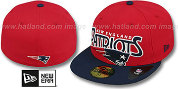 Patriots 'PROFILIN' Red-Navy Fitted Hat by New Era