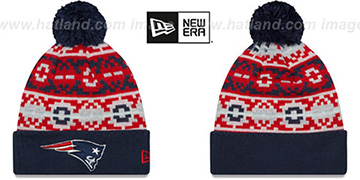 Patriots RETRO CHILL Knit Beanie Hat by New Era