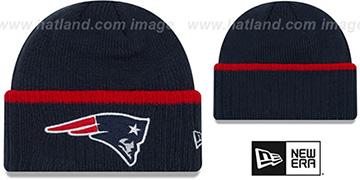 Patriots 'RIBBED-UP' Navy Knit Beanie Hat by New Era