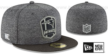 Patriots ROAD ONFIELD STADIUM Charcoal-Black Fitted Hat by New Era