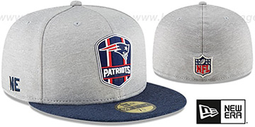Patriots ROAD ONFIELD STADIUM Grey-Navy Fitted Hat by New Era