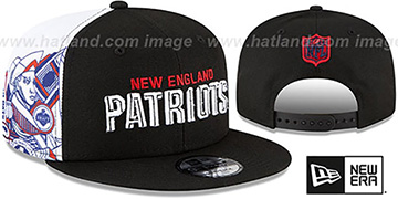 Patriots SIDE-CARD SNAPBACK Black Hat by New Era
