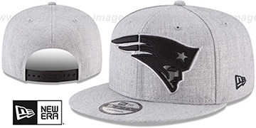 Patriots SILKED-XL SNAPBACK Heather Light Grey Hat by New Era
