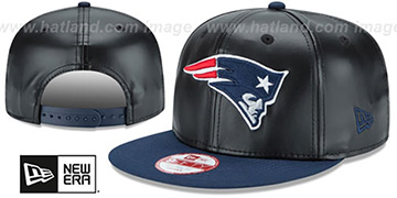 Patriots 'SMOOTHLY STATED SNAPBACK' Black-Navy Hat by New Era