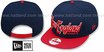 Patriots 'SNAP-IT-BACK SNAPBACK' Navy-Red Hat by New Era