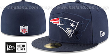 Patriots 'STADIUM SHADOW' Navy Fitted Hat by New Era