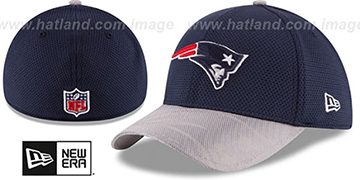 Patriots STADIUM TRAINING FLEX Navy-Grey Hat by New Era