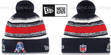Patriots 'SUPER BOWL XLIX CHAMPS THROWBACK STADIUM' Knit Beanie Hat by New Era