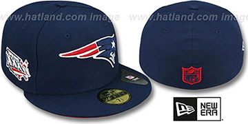 Patriots 'SUPER BOWL XXXVI' Navy Fitted Hat by New Era