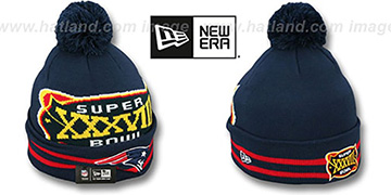 Patriots SUPER BOWL XXXVIII Navy Knit Beanie Hat by New Era