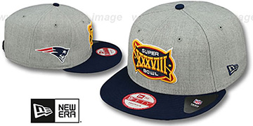 Patriots 'SUPER BOWL XXXVIII SNAPBACK' Grey-Navy Hat by New Era