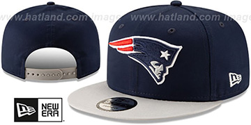 Patriots TEAM-BASIC SNAPBACK Navy-Grey Hat by New Era