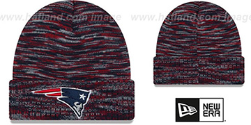 Patriots 'TEAM-CRAZE' Navy-Red Knit Beanie Hat by New Era