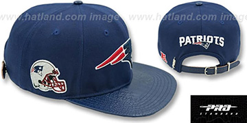 Patriots TEAM LOGO SUPER BOWL LII STRAPBACK Navy Hat by Pro Standard