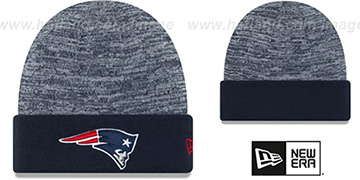 Patriots TEAM-RAPID Navy-White Knit Beanie Hat by New Era