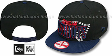 Patriots 'THROUGH SNAPBACK' Black-Navy Hat by New Era