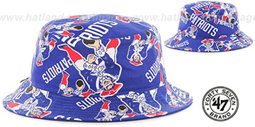 Patriots 'THROWBACK BRAVADO BUCKET' Hat by Twins 47 Brand