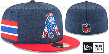 Patriots THROWBACK HOME ONFIELD STADIUM Navy-Red Fitted Hat by New Era