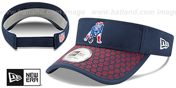Patriots 'THROWBACK HONEYCOMB STADIUM VISOR' Navy by New Era