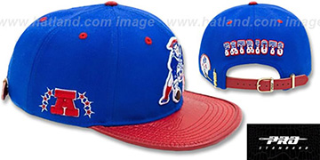 Patriots THROWBACK LOGO-MARK STRAPBACK Royal-Red Hat by Pro Standard