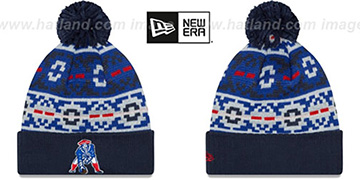Patriots THROWBACK RETRO CHILL Knit Beanie Hat by New Era