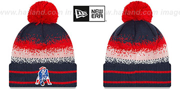 Patriots 'THROWBACK SPEC-BLEND' Knit Beanie Hat by New Era