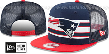 Patriots 'THROWBACK-STRIPE SNAPBACK' Navy-Red Hat by New Era