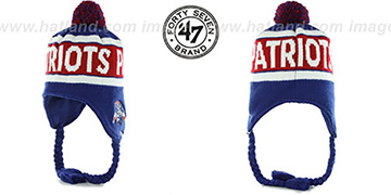Patriots THROWBACK 'CRANBROOK' Knit Beanie Hat by Twins 47 Brand