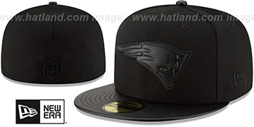 Patriots 'TONAL TRICK' Black Fitted Hat by New Era