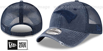 Patriots TONAL-WASHED TRUCKER SNAPBACK Navy Hat by New Era