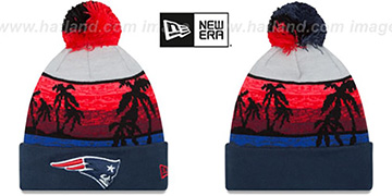 Patriots WINTER BEACHIN Knit Beanie Hat by New Era