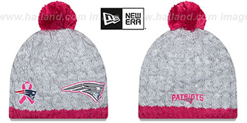 Patriots 'WOMENS 2015 BCA' Knit Beanie Hat by New Era