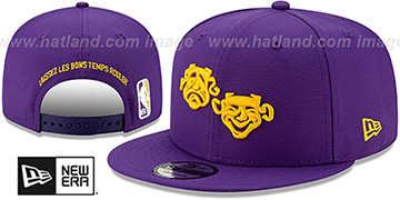 Pelicans 19-20 CITY-SERIES ALTERNATE SNAPBACK Purple Hat by New Era