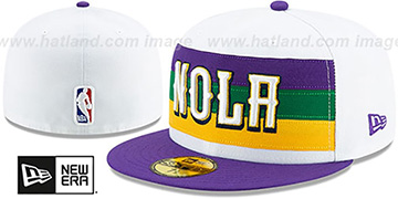 Pelicans 19-20 CITY-SERIES White-Purple Fitted Hat by New Era