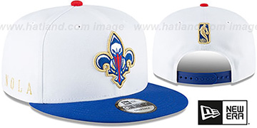 Pelicans 20-21 'CITY-SERIES' ALTERNATE SNAPBACK White-Royal Hat by New Era