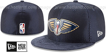 Pelicans 2017 ONCOURT DRAFT Navy Fitted Hat by New Era