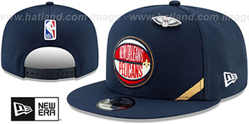 Pelicans 2019 NBA DRAFT SNAPBACK Navy Hat by New Era