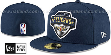 Pelicans 2020 NBA TIP OFF Navy Fitted Hat by New Era