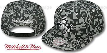 Pelicans '3M DIGI-CAMO SNAPBACK' Black-Grey Hat by Mitchell & Ness