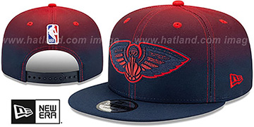 Pelicans BACK HALF FADE SNAPBACK Hat by New Era