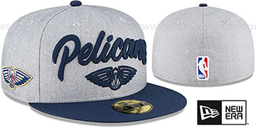 Pelicans ROPE STITCH DRAFT Grey-Navy Fitted Hat by New Era