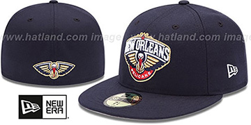 Pelicans SECONDARY TEAM-BASIC Navy Hat by New Era
