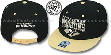 Penguins '2T HOLDEN SNAPBACK' Adjustable Hat by Twins 47 Brand
