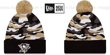 Penguins CAMO CAPTIVATE Knit Beanie Hat by New Era