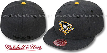 Penguins 'GREY HEDGEHOG' Fitted Hat by Mitchell and Ness
