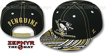 Penguins KONA SNAPBACK Hat by Zephyr