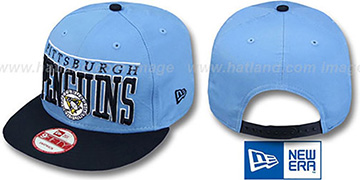 Penguins 'LE-ARCH SNAPBACK' Sky-Navy Hat by New Era